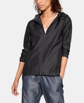 Women's UA Iridescent Woven Full Zip  1  Color Available $65