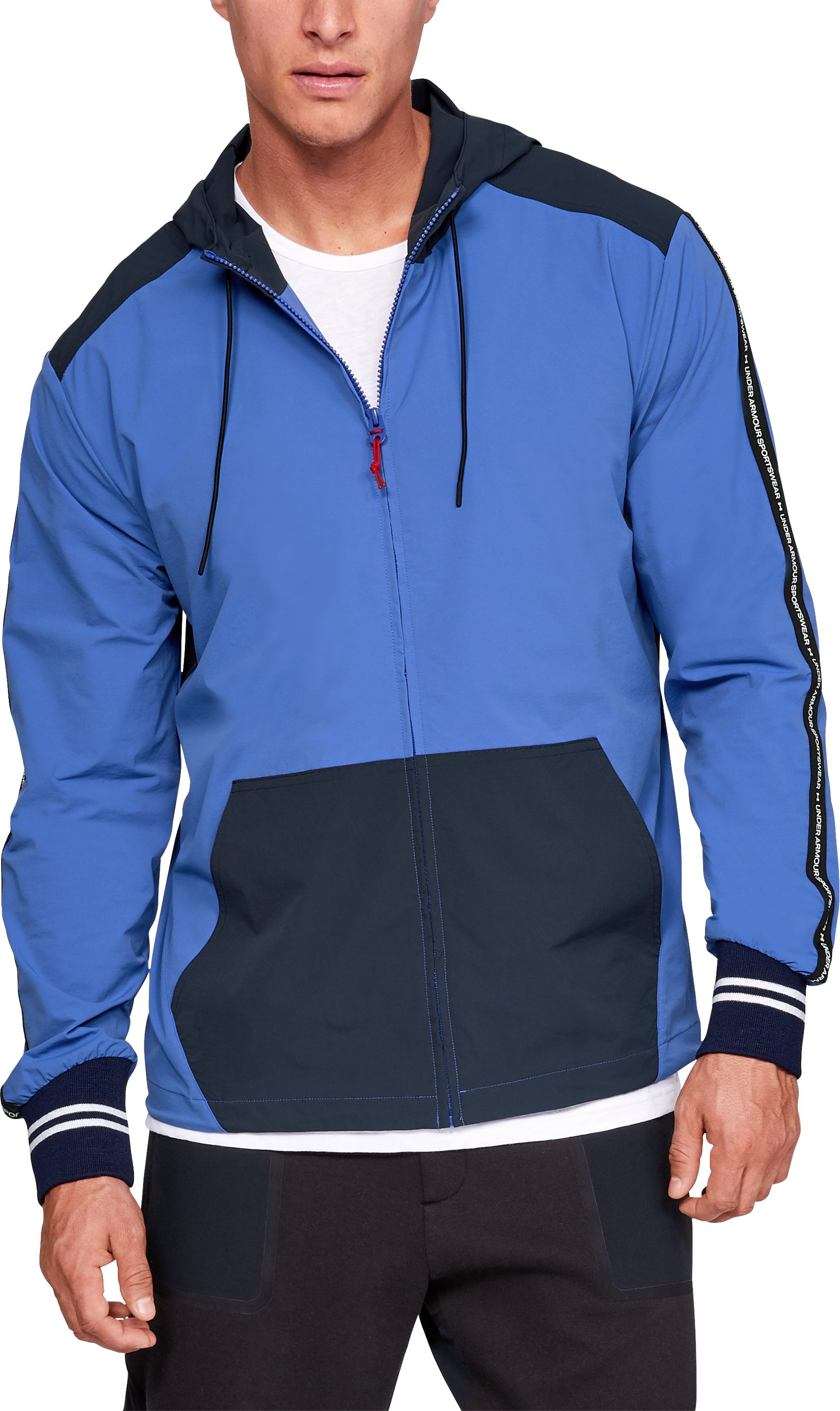 Men's UA Sportswear Crepe Graphic Zip Hoodie, UAS Blue,