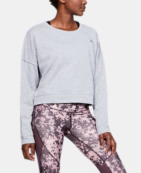 New Arrival Women's UA Favorite Terry Crop Crew  1  Color Available $50