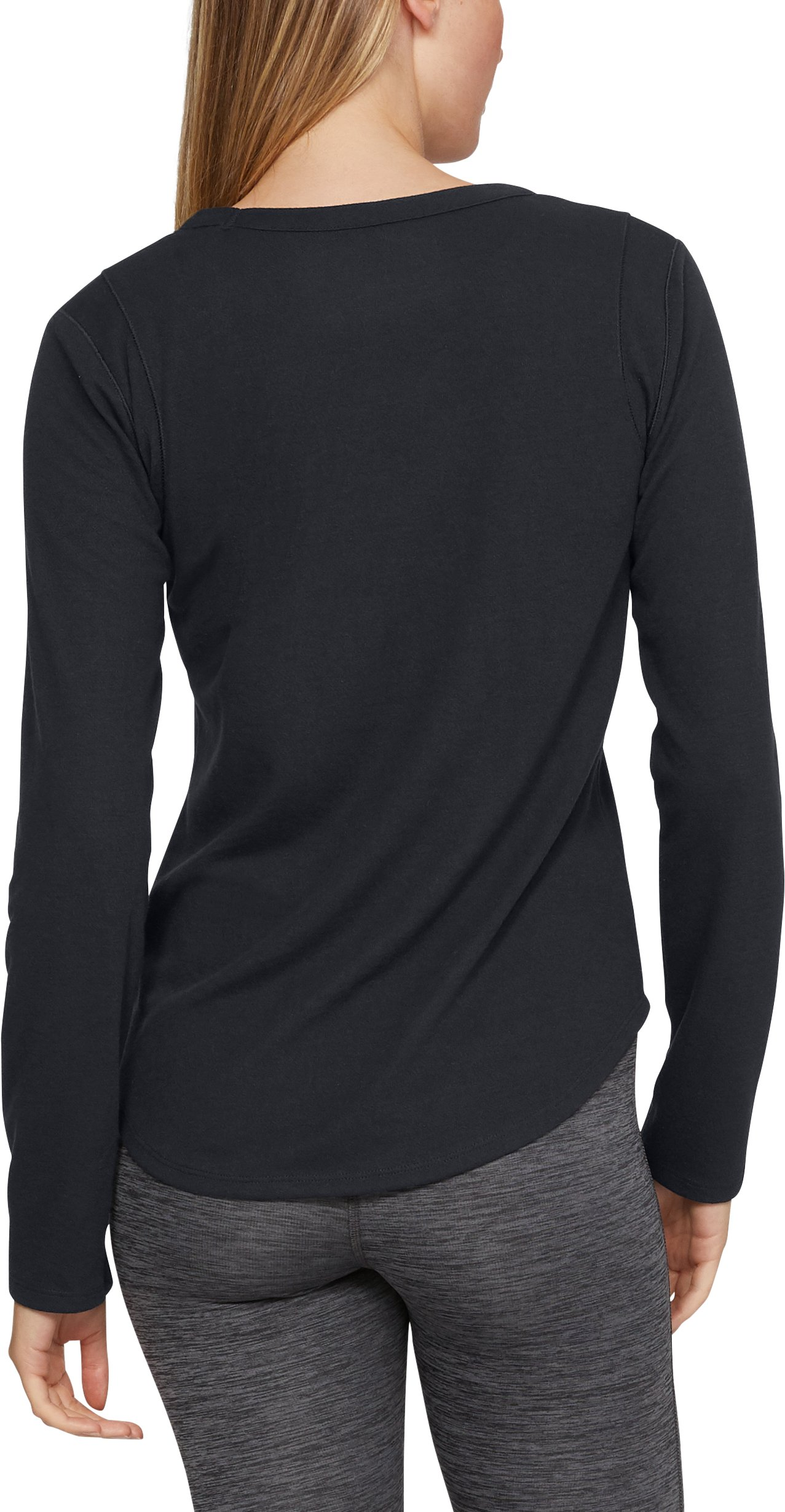 Women's ColdGear® Infrared Long Sleeve, BLACK LIGHT HEATHER,