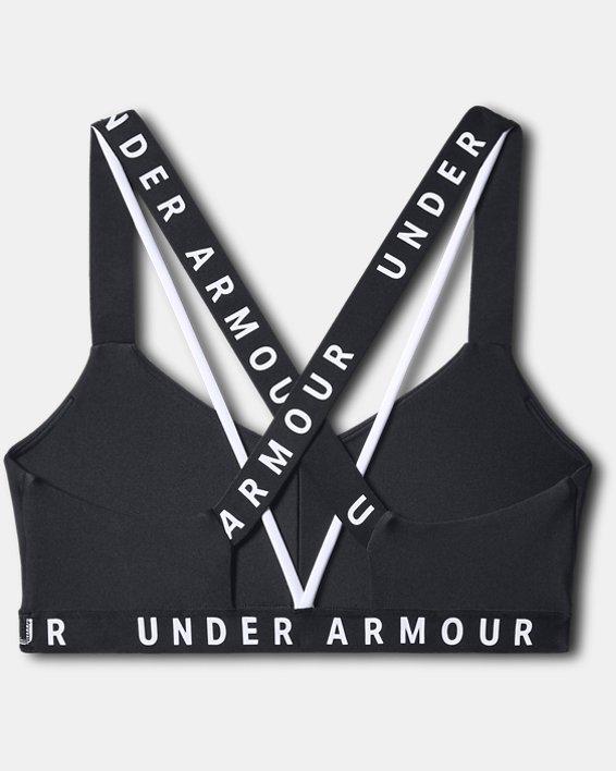Womens UA Wordmark Strappy Sportlette, Black, pdpMainDesktop image number 3