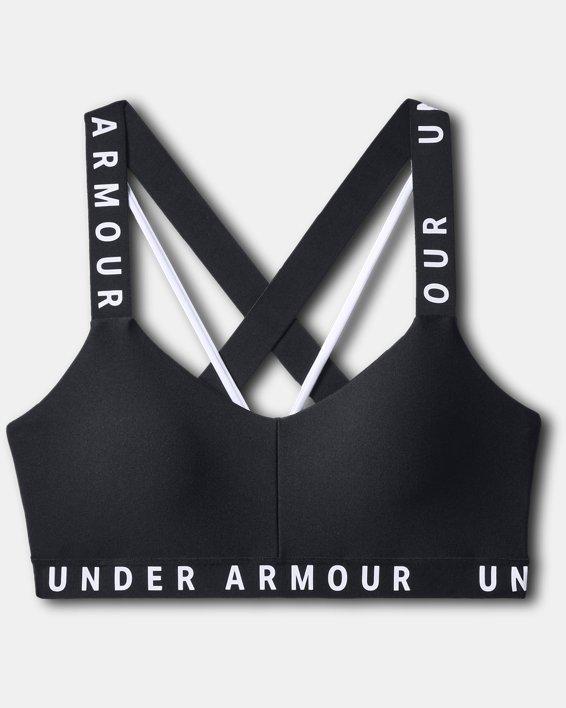 Womens UA Wordmark Strappy Sportlette, Black, pdpMainDesktop image number 2