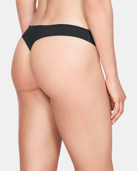 Lot de 3 strings UA Pure Stretch pour femme, Black, pdpMainDesktop image number 1