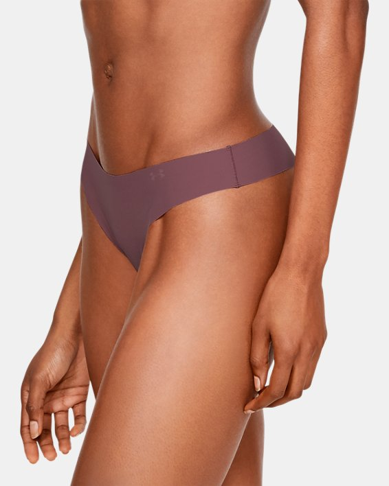 Women's UA Pure Stretch Thong 3-Pack Printed, Pink, pdpMainDesktop image number 2