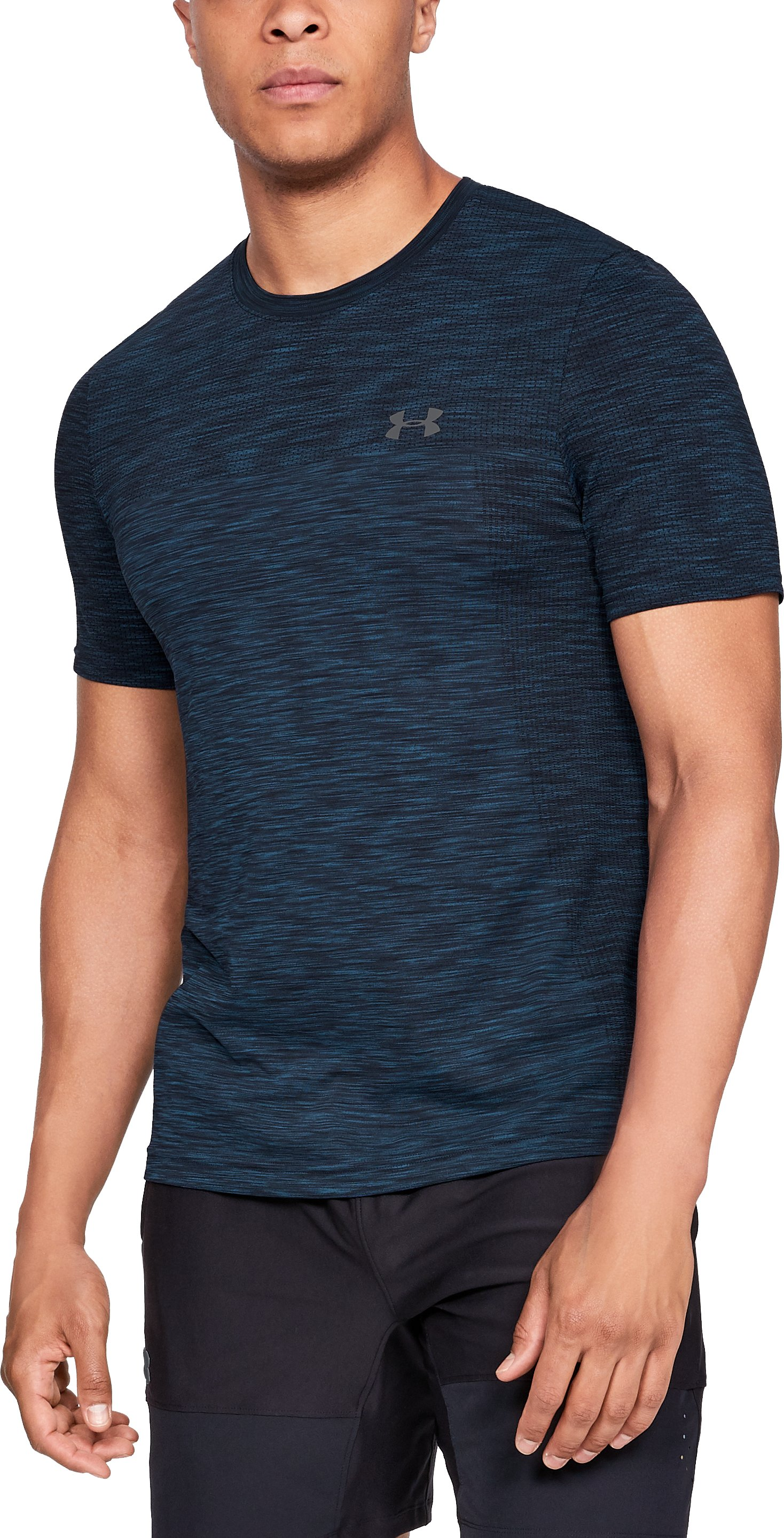 Men's UA Vanish Seamless Short Sleeve, Academy, zoomed
