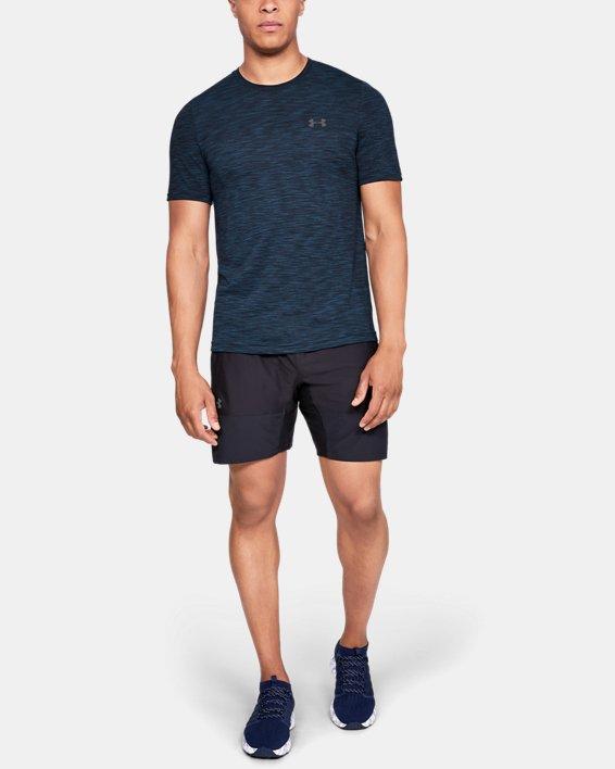 Men's UA Vanish Seamless Short Sleeve, Navy, pdpMainDesktop image number 1