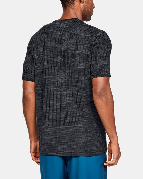 Men's UA Vanish Seamless Camo Short Sleeve, Black, pdpMainDesktop image number 2