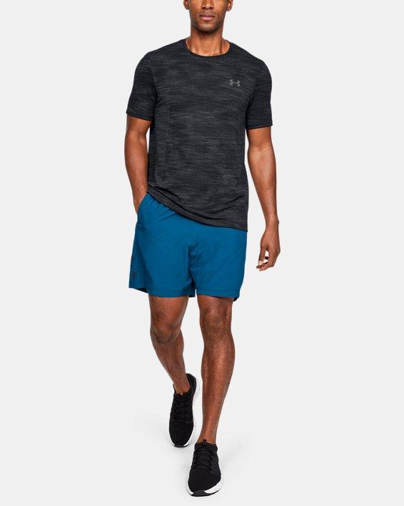 Men's UA Vanish Seamless Camo Short Sleeve, Black, pdpMainDesktop image number 1