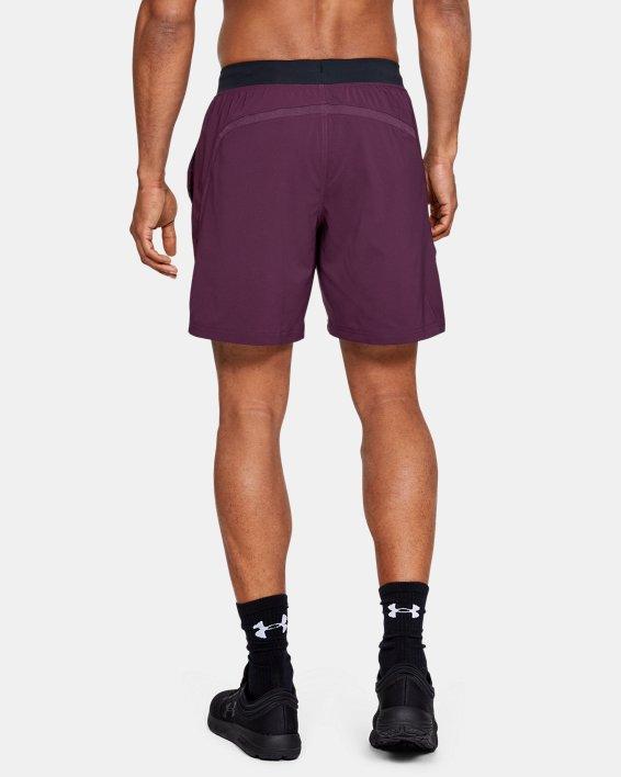 "Men's UA Speedpocket Run 7"" Shorts, Purple, pdpMainDesktop image number 2"