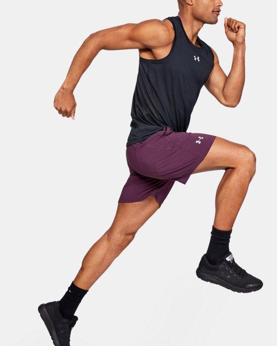 "Men's UA Speedpocket Run 7"" Shorts, Purple, pdpMainDesktop image number 1"