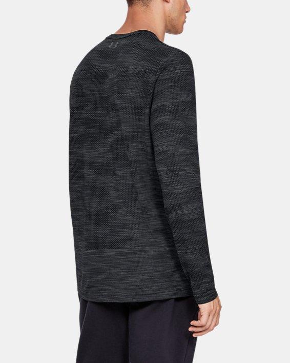 Men's UA Vanish Seamless Camo Long Sleeve, Black, pdpMainDesktop image number 2
