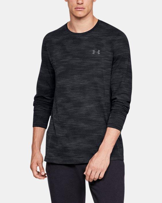 Men's UA Vanish Seamless Camo Long Sleeve, Black, pdpMainDesktop image number 0