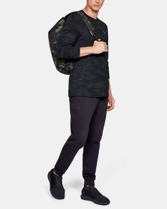 Men's UA Vanish Seamless Camo Long Sleeve, Black, pdpMainDesktop image number 1