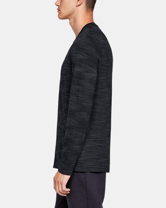 Men's UA Vanish Seamless Camo Long Sleeve, Black, pdpMainDesktop image number 3