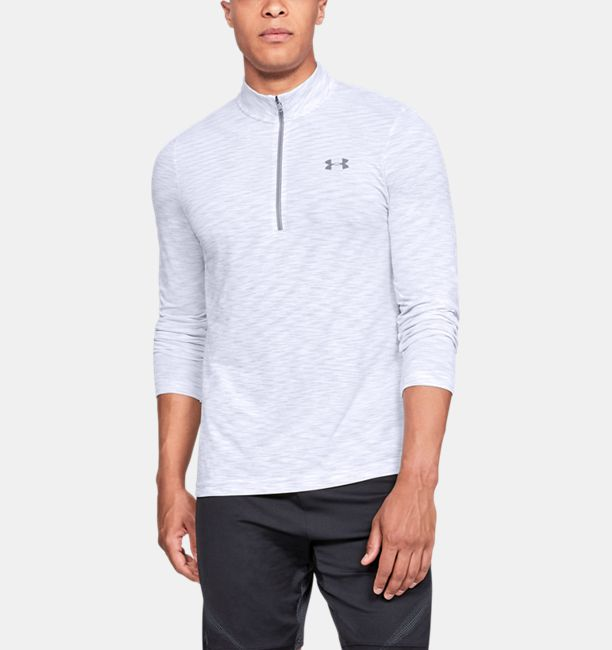 Men's UA Vanish Seamless ½ Zip, White, , White, Click to view full size