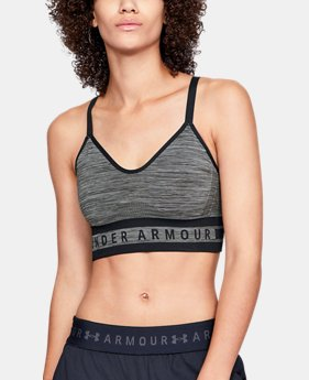 Women's UA Seamless Longline Heather Sports Bra  2  Colors Available $35