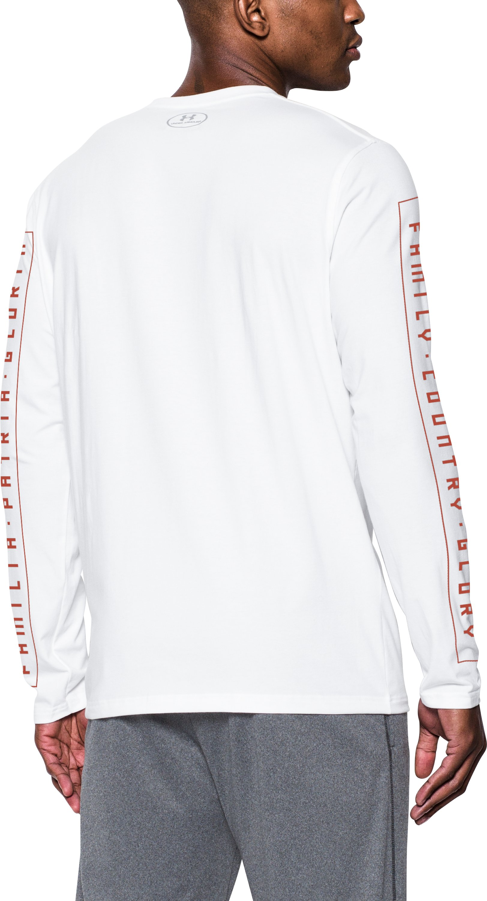 Men's Canelo UA Familia Long Sleeve T-Shirt, White,
