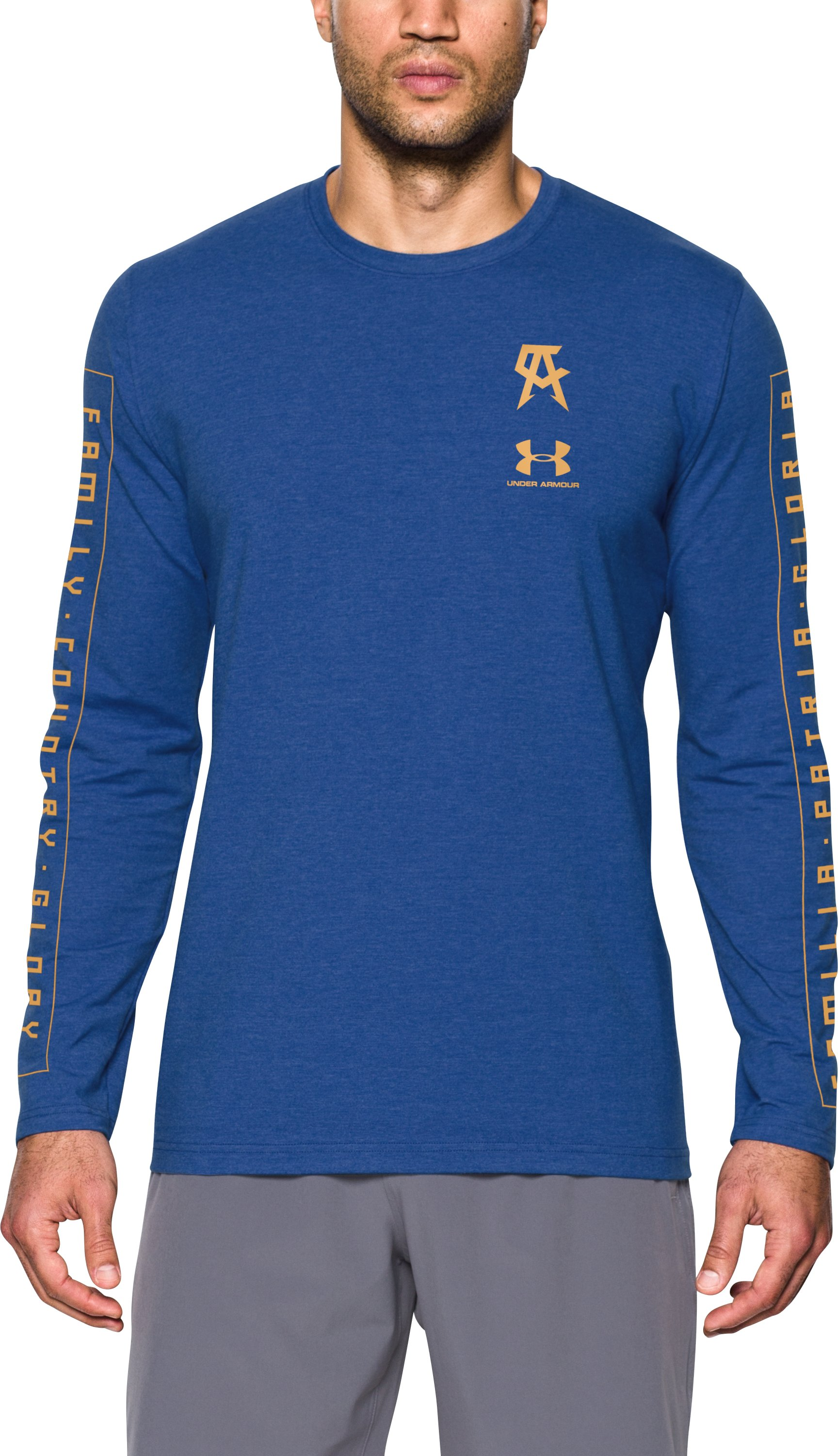 Men's UA Canelo Left Chest Long Sleeve T-Shirt, Royal, undefined