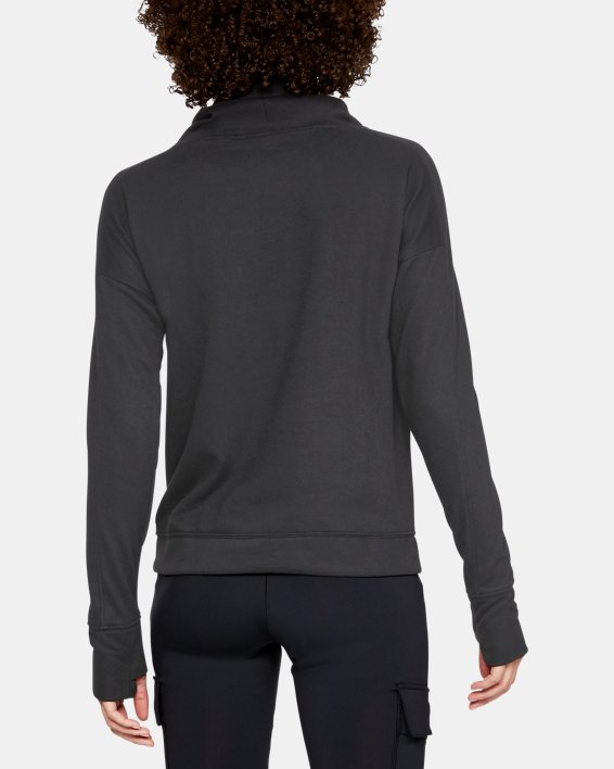 Women's UA Tech™ Terry Graphic Funnel Neck, Gray, pdpMainDesktop image number 2