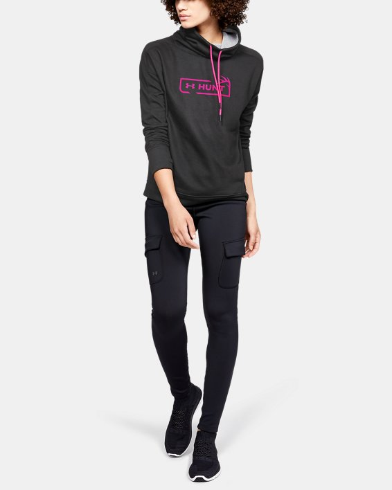 Women's UA Tech™ Terry Graphic Funnel Neck, Gray, pdpMainDesktop image number 1