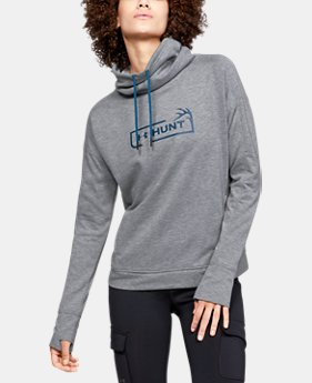 Women's UA Tech™ Terry Graphic Funnel Neck  1  Color Available $70