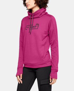 Women's UA Tech™ Terry Graphic Funnel Neck  5  Colors Available $55