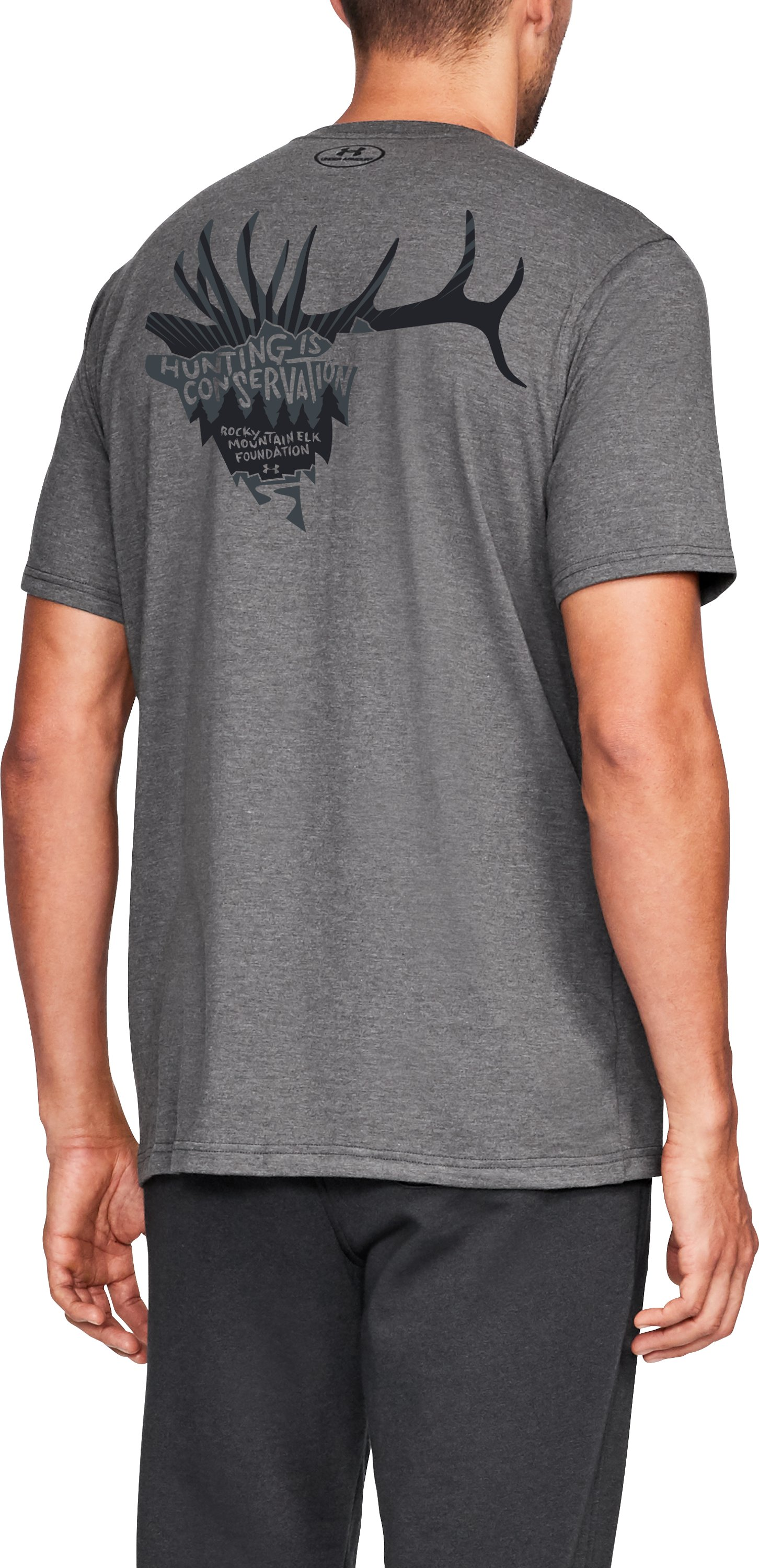Men's UA x RMEF T-Shirt, Charcoal Medium Heather, undefined