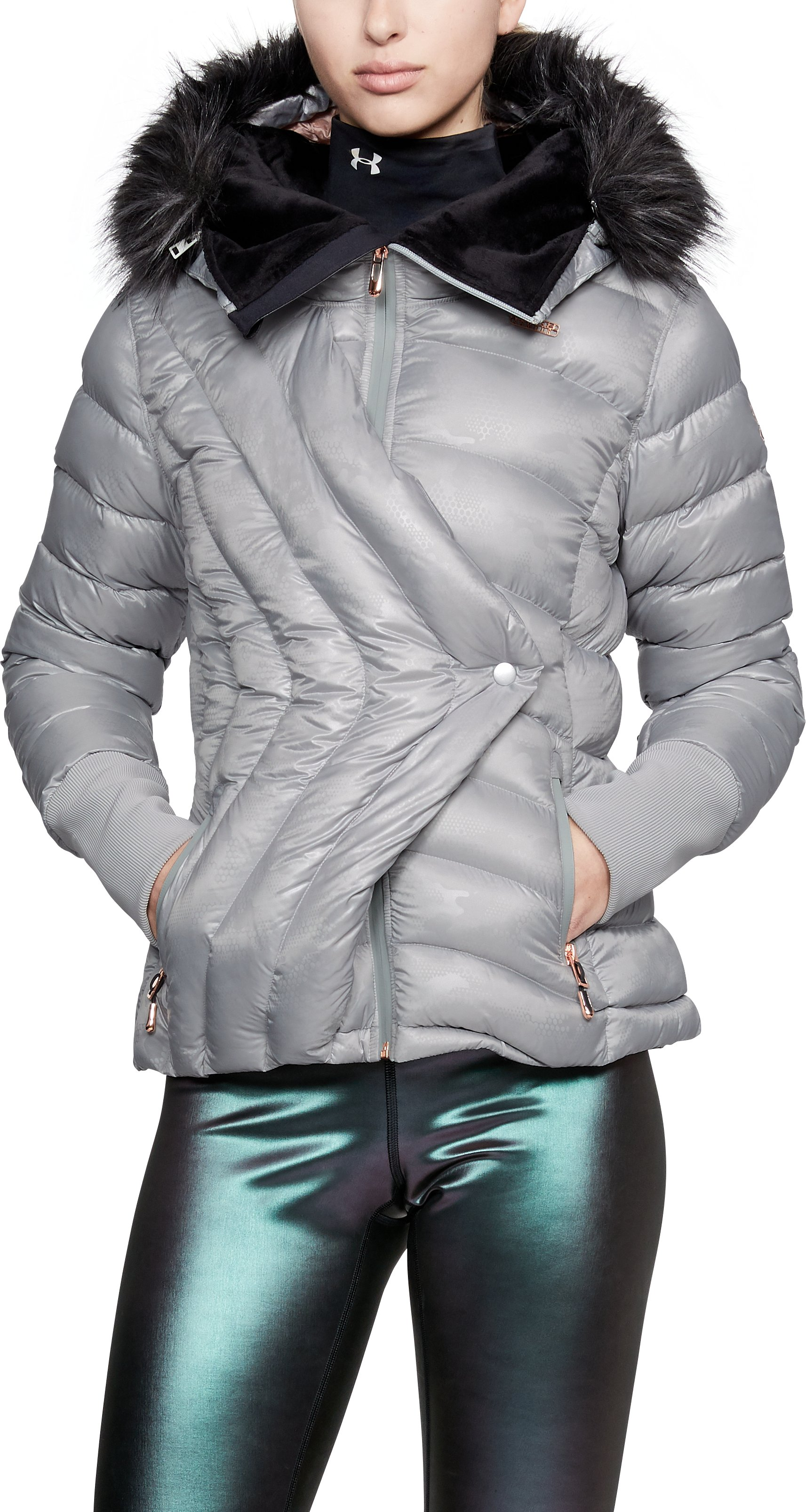 Women's UA LV Louise Jacket *Ships 2/14/18*, Metallic Silver LV, zoomed
