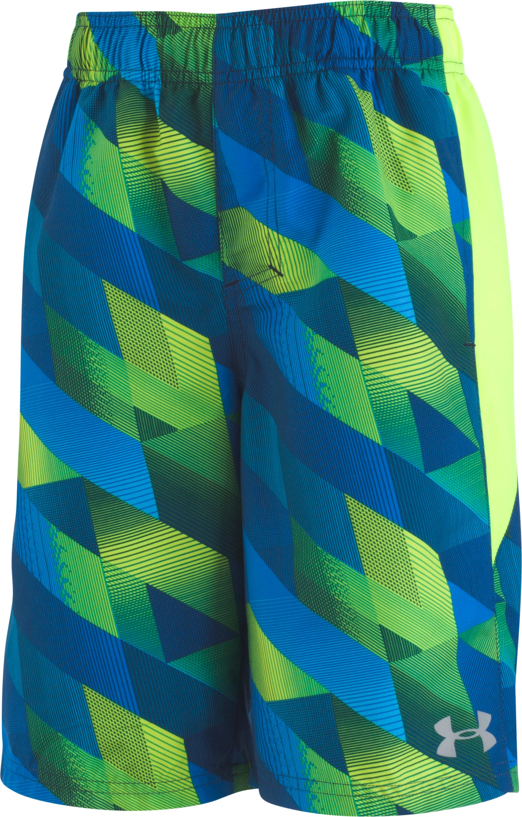Boys' UA Electric Field Volley , High-Vis Yellow, zoomed