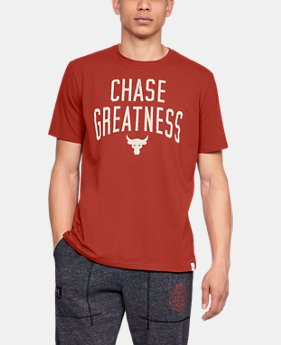 New Arrival Men's UA x Project Rock Chase Greatness Short Sleeve T-Shirt FREE U.S. SHIPPING 1  Color Available $35