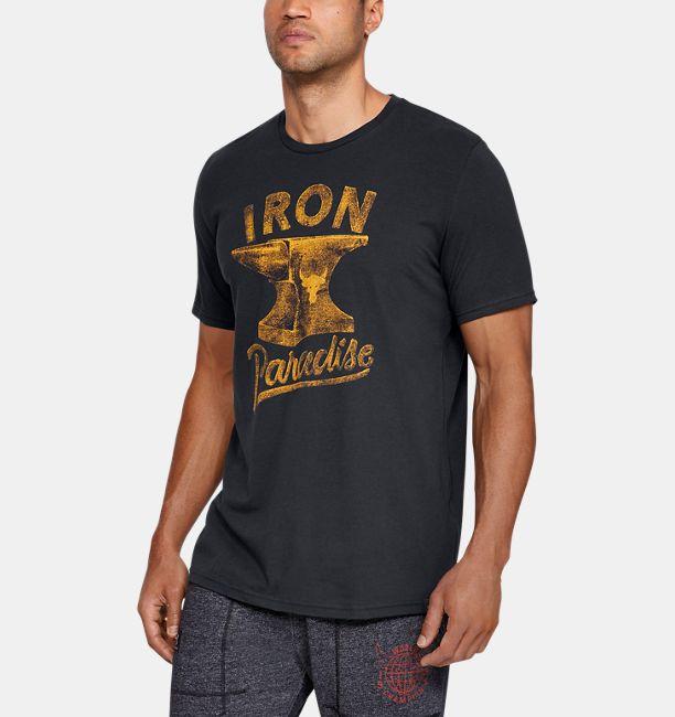 Men s UA x Project Rock Iron Paradise Short Sleeve T-Shirt  fbb47676c3f