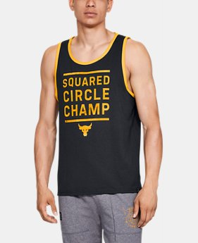 New Arrival Men's UA x Project Rock Squared Circle Champ Tank FREE U.S. SHIPPING 2  Colors Available $35