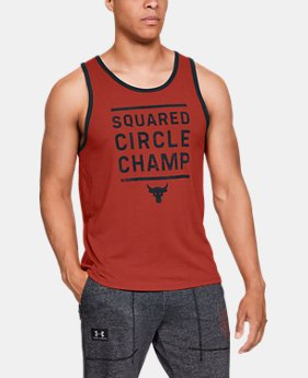 Men's UA x Project Rock Squared Circle Champ Tank  2  Colors Available $35