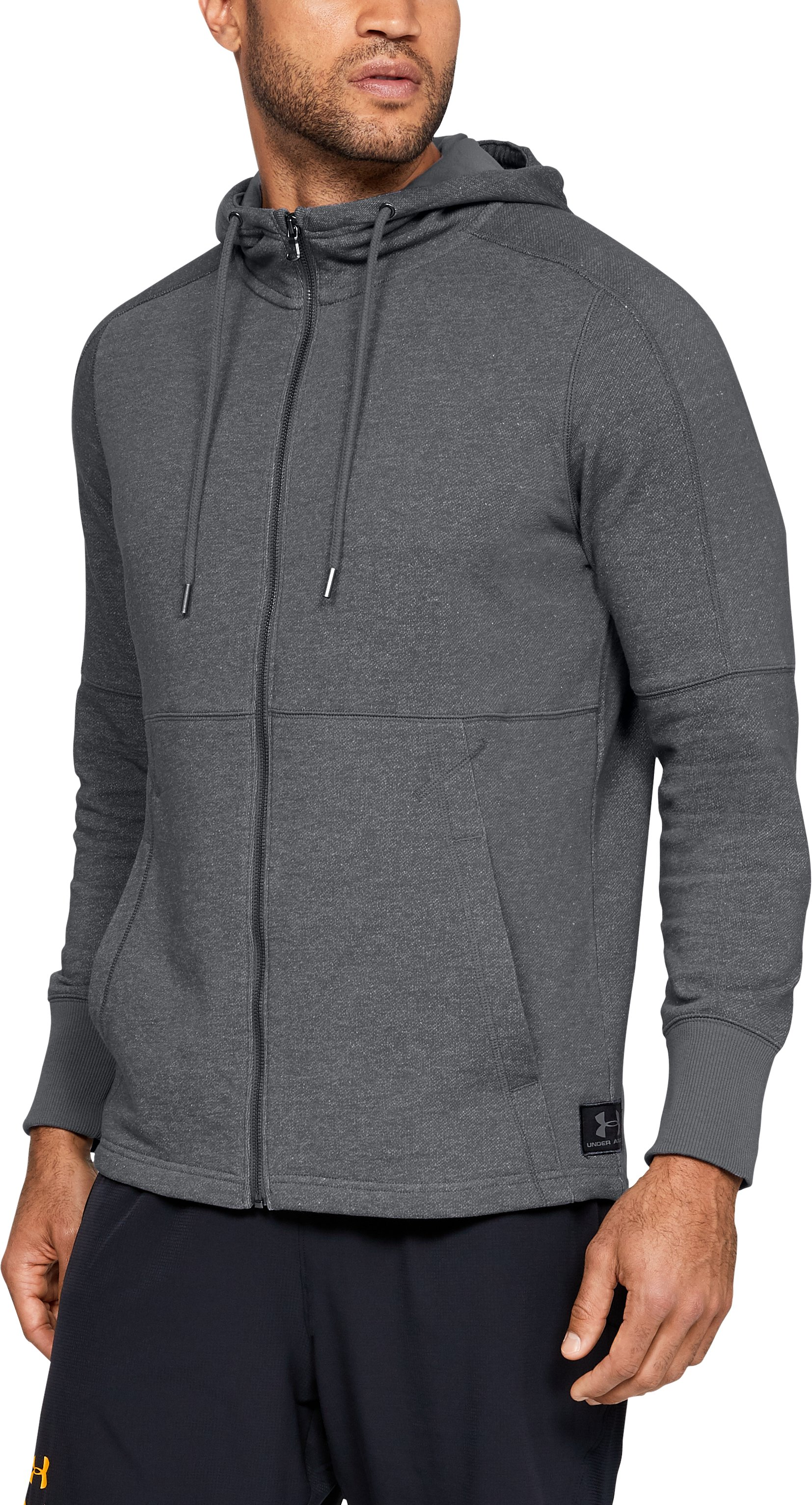 Men's UA x Project Rock Hawaii USA Hoodie, Graphite, zoomed