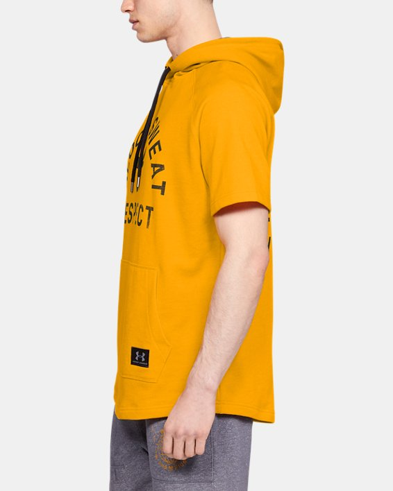 Project Rock Respect SS Hoodie, Yellow, pdpMainDesktop image number 3
