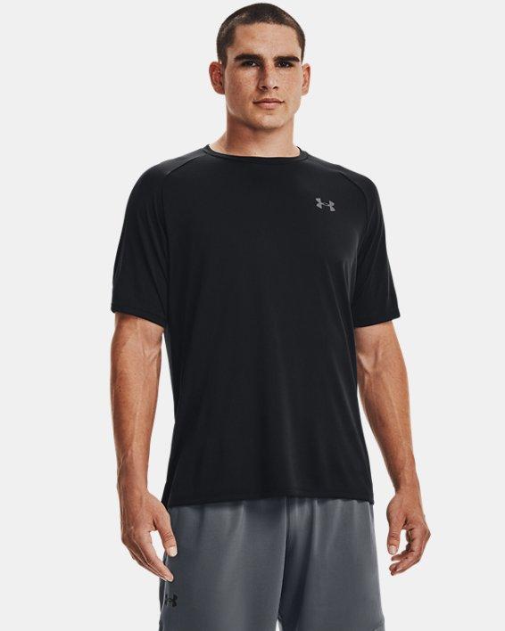 Men's UA Tech™ 2.0 Short Sleeve, Black, pdpMainDesktop image number 0