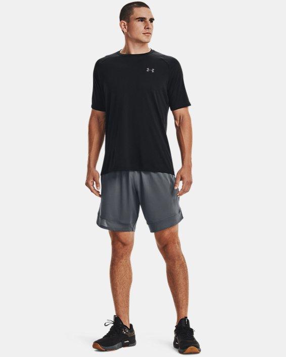 Men's UA Tech™ 2.0 Short Sleeve, Black, pdpMainDesktop image number 2