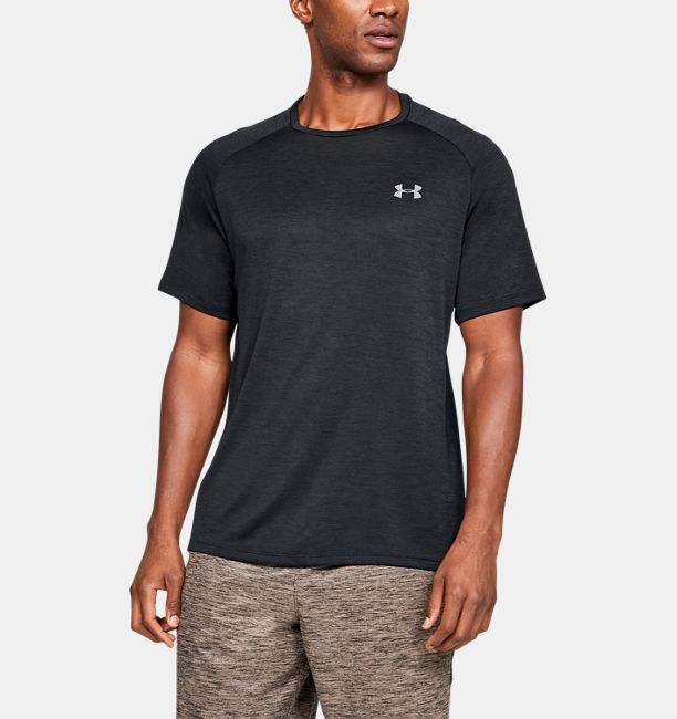 Men's UA Tech™ Short Sleeve, Black , , Black , Click to view full size