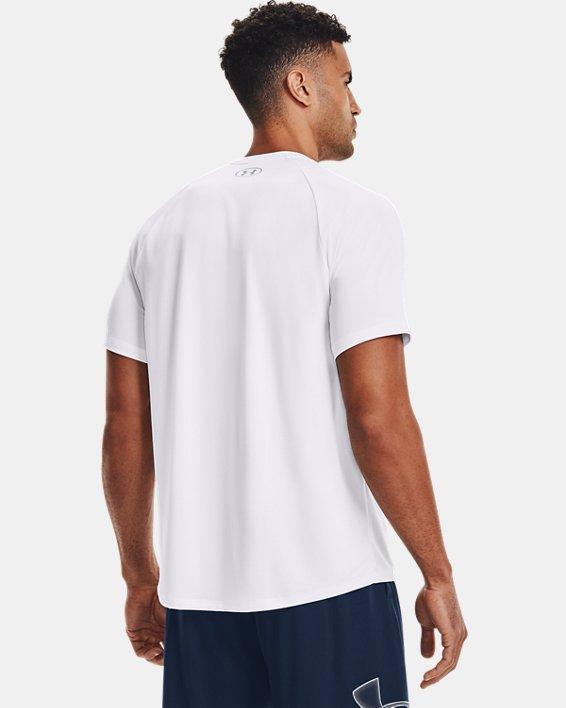 Men's UA Tech™ 2.0 Short Sleeve, White, pdpMainDesktop image number 2
