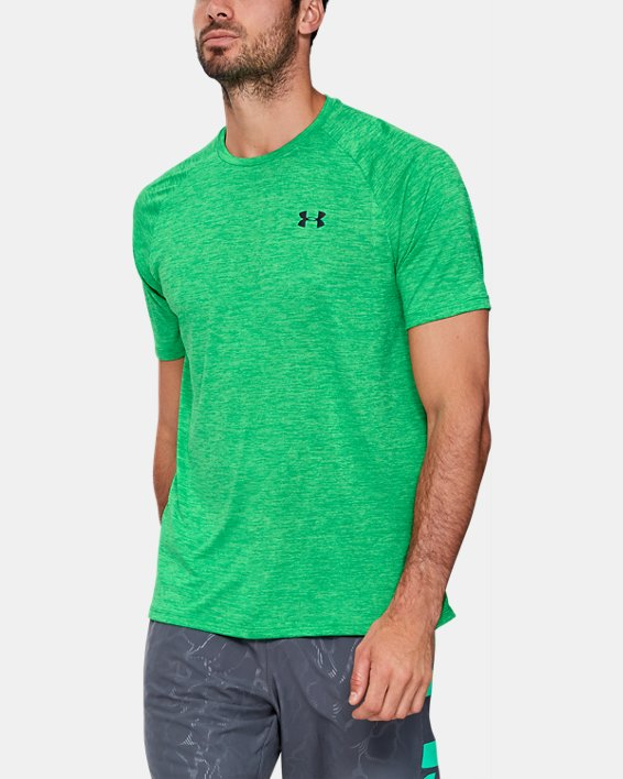 Men's UA Tech™ 2.0 Short Sleeve, Green, pdpMainDesktop image number 0