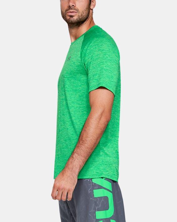 Men's UA Tech™ 2.0 Short Sleeve, Green, pdpMainDesktop image number 3