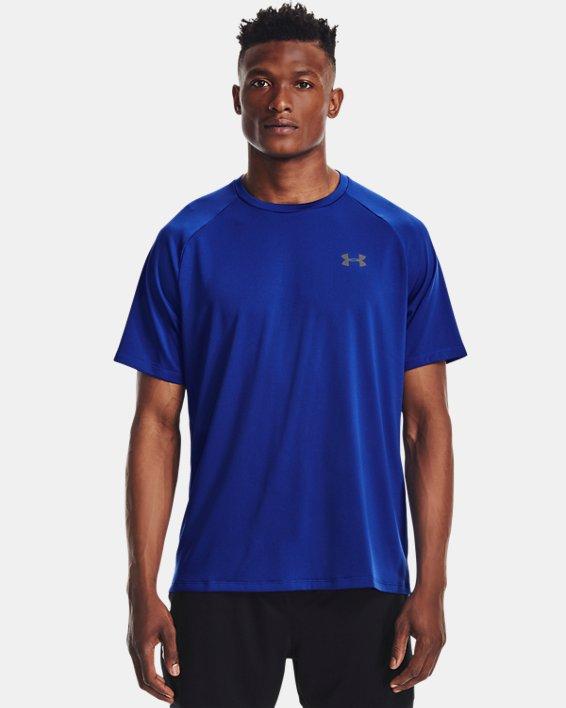Men's UA Tech™ 2.0 Short Sleeve, Blue, pdpMainDesktop image number 0