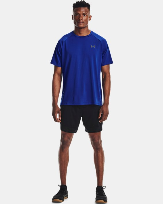 Men's UA Tech™ 2.0 Short Sleeve, Blue, pdpMainDesktop image number 2