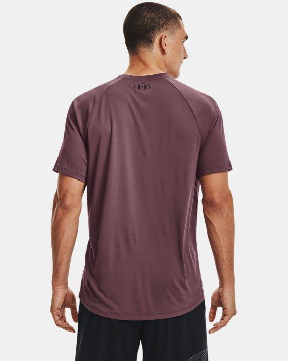 Men's UA Tech™ 2.0 Short Sleeve, Purple, pdpMainDesktop image number 1