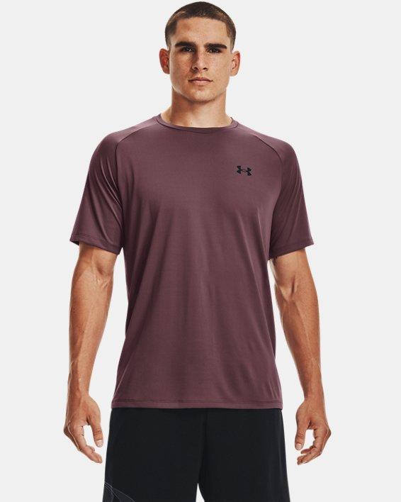 Men's UA Tech™ 2.0 Short Sleeve, Purple, pdpMainDesktop image number 0