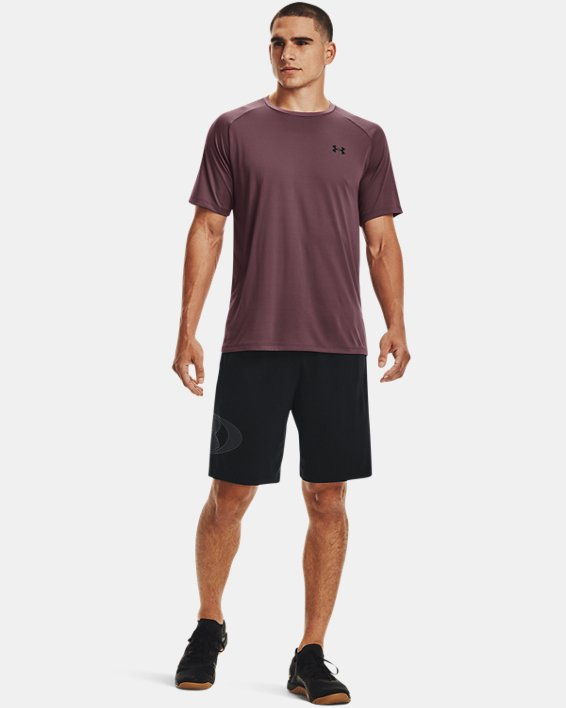 Men's UA Tech™ 2.0 Short Sleeve, Purple, pdpMainDesktop image number 2
