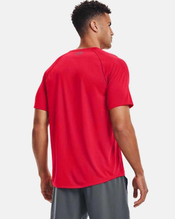 Men's UA Tech™ 2.0 Short Sleeve, Red, pdpMainDesktop image number 2