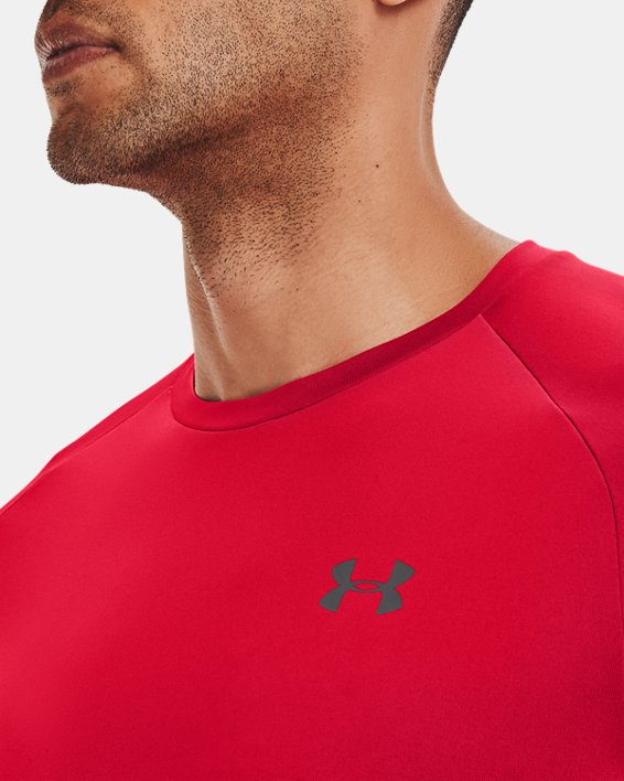 Men's UA Tech™ 2.0 Short Sleeve, Red, pdpMainDesktop image number 3