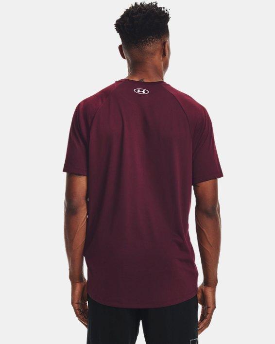 Men's UA Tech™ 2.0 Short Sleeve, Red, pdpMainDesktop image number 1