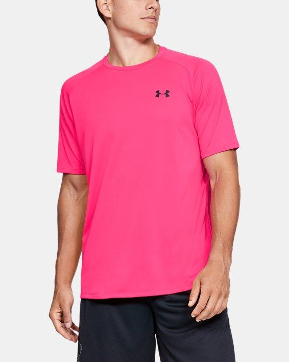 Men's UA Tech™ 2.0 Short Sleeve, Pink, pdpMainDesktop image number 0